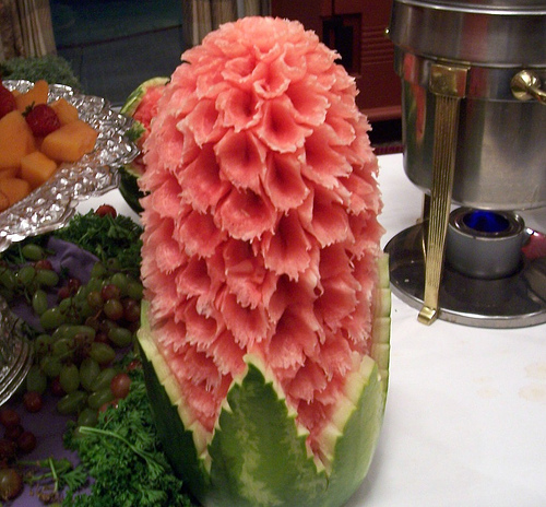 Watermelon Carved as Flower