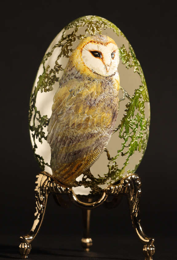 Carved and Painted Owl