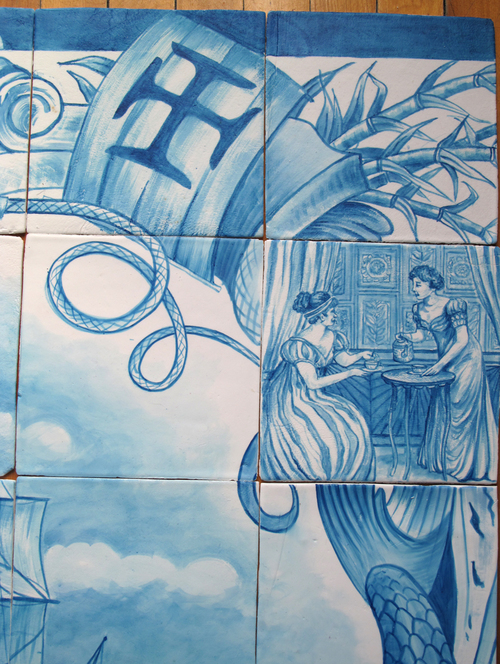 Detail from top right of Velocity Mural