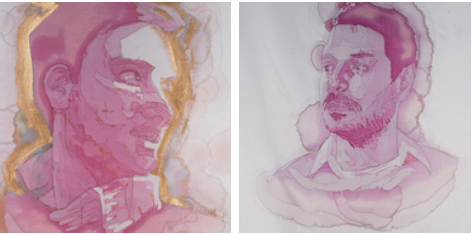 Wine Stain Portraits Men